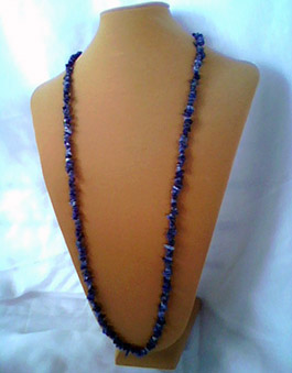 Blue Necklace, Hand Crafted Jewelry, Red Banks, MS